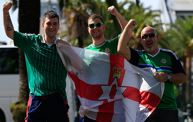 Northern Ireland fans Euro 2016