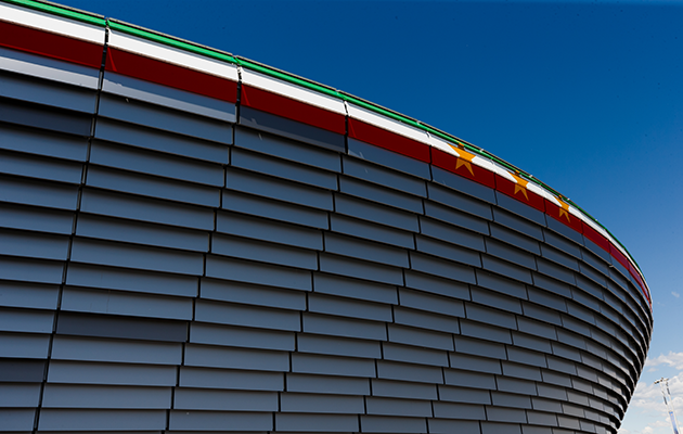 Strikingly modern...the stadium is a fitting 21st century home for Juventus.