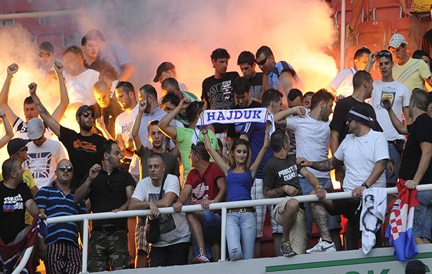 Hajduk Split fans referee Croatia