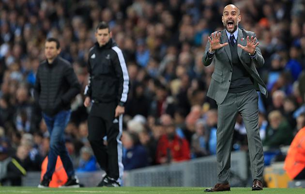 Pep Guardiola Manchester City vs Barcelona