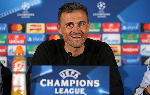 Barcelona coach Luis Enrique Messi Man City