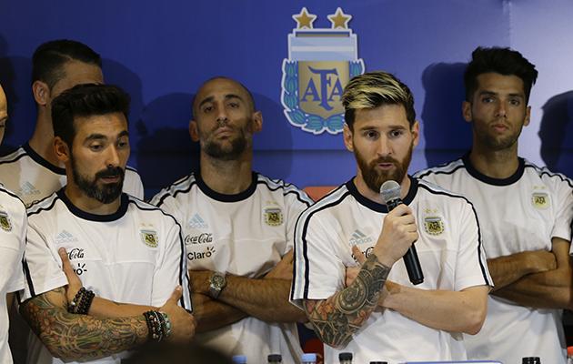 Lionel Messi Argentina media, Levazzi