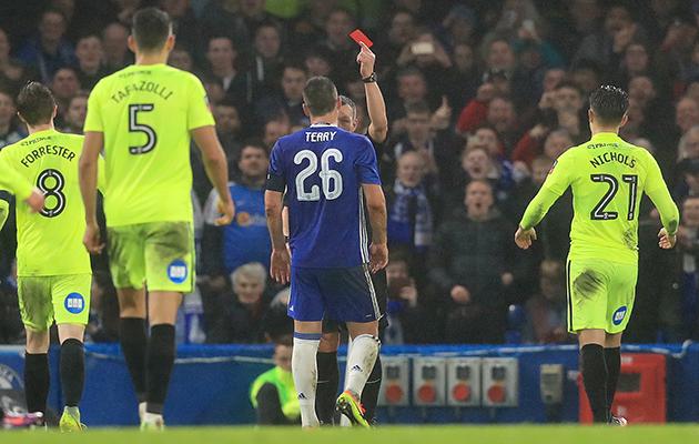 John Terry red card