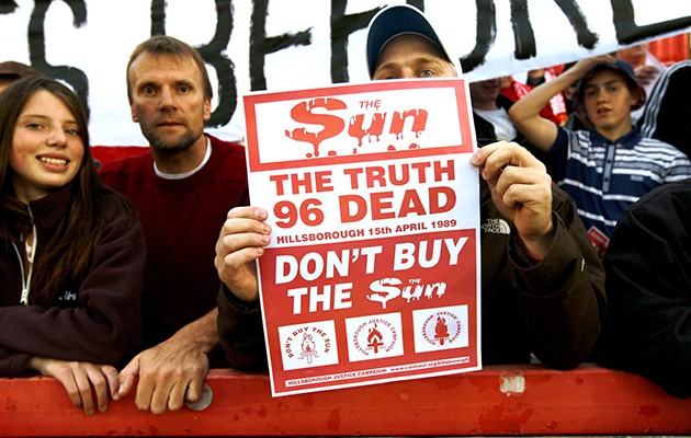 Liverpool Hillsborough The sun