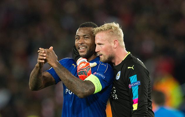 Leicester City Wes Morgan Kaspar Schmeichel