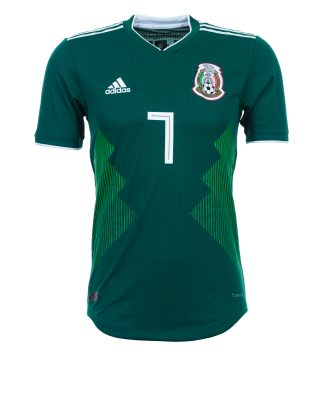 f3fafdd1a84 Mexico stay traditionally green in their home jersey. 'Soy Mexico' is  printed on the neck (Getty Images)