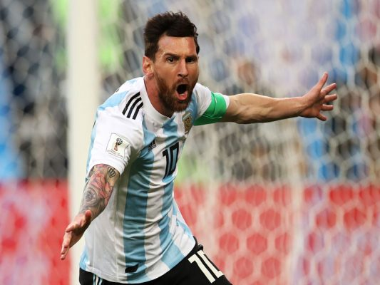Watch: Sensational control from Messi to open his account at Russia 2018