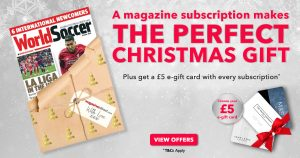 The Perfect Christmas Gift: subscribe to World Soccer from just £23.49