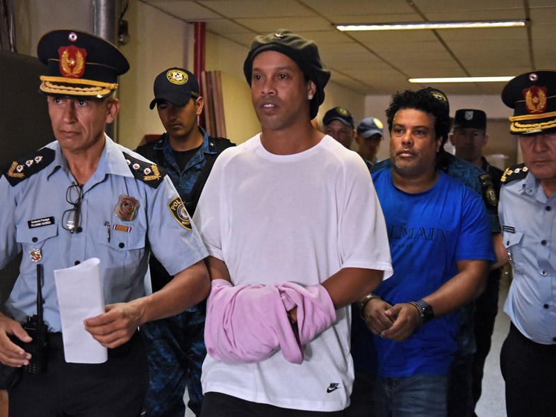 Ronaldinho Spends 40th Birthday In Jail