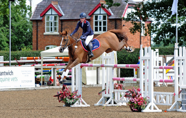 Tixylix and Jodie Hall McAteer competing at South View, horse shows in Cheshire