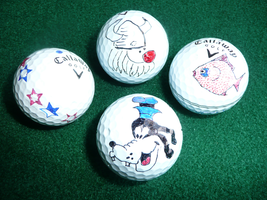 Les Cleverly, Sharpie golf ball marker competition