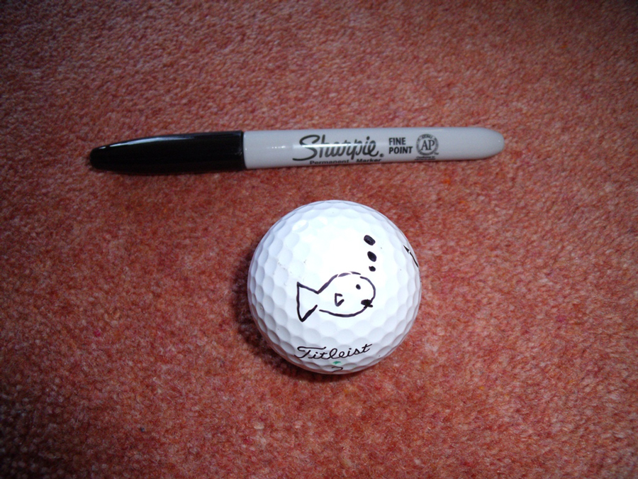 Richard Boothroyd, Sharpie golf ball marker competition