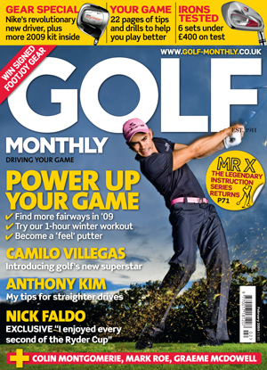 Golf Monthly February 2009 cover