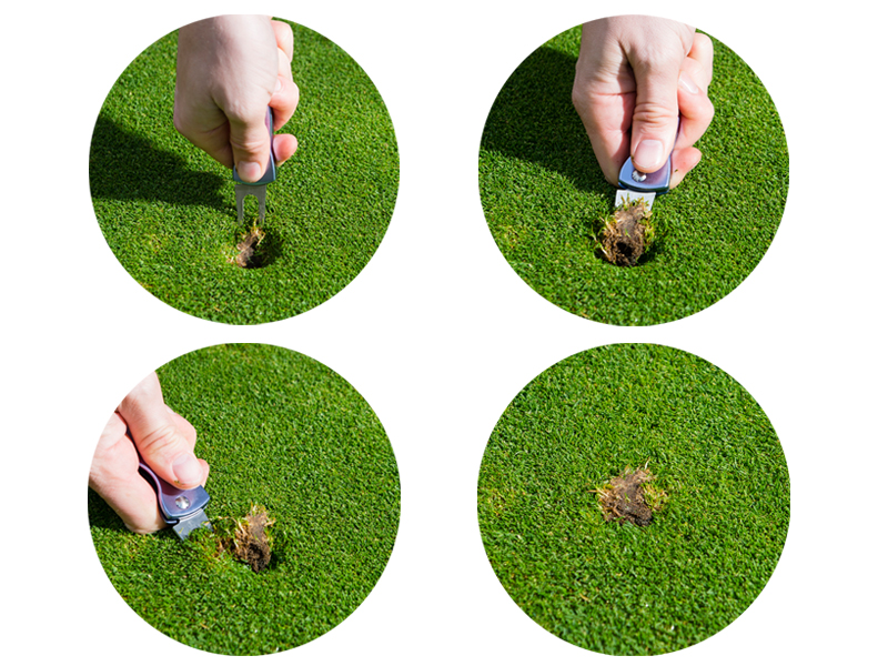 how to repair a pitch mark correctly golf monthly