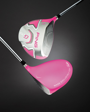 Pink PING driver for Bubba