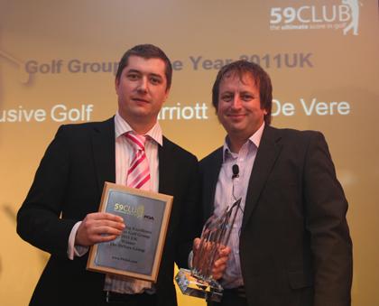 Steve Dacre De Vere Golf Group Sales Manager with Simon Wordsworth