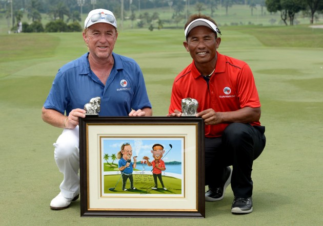 Miguel Angel Jimenez and Thongchai Jaidee