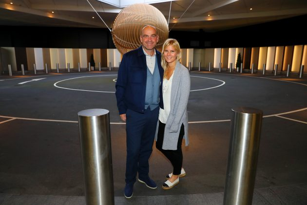 Thomas Bjorn and his girlfriend Grace Barber