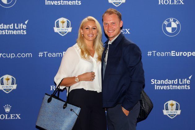Danny Willett with his wife Nicole Wiillett
