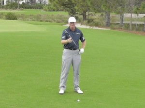 Ernie Els how to play from a divot