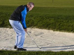 how to set up for a bunker shot