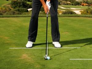 how to address a golf ball