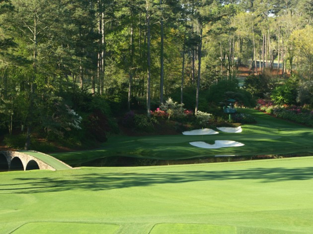 12th hole round at Augusta