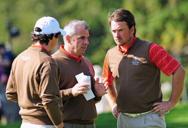 McIlroy, McGinley and MacDowell at the 2009 Vivendi Trophy