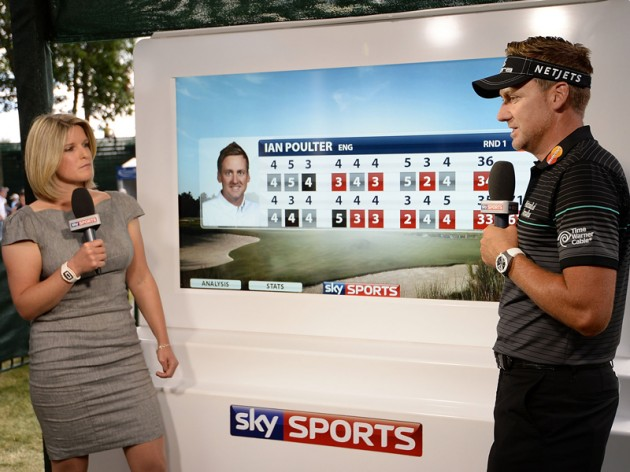 Sky Golf Cart Sarah Stirk Ian Poulter