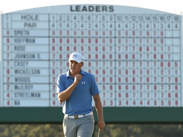 Jordan Spieth leads The Masters by four from Justin Rose