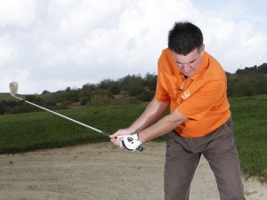 long bunker shot technique