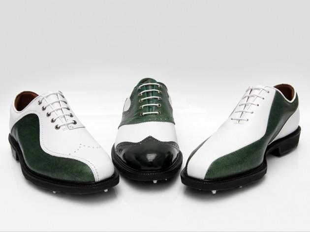 Footjoy green leathers