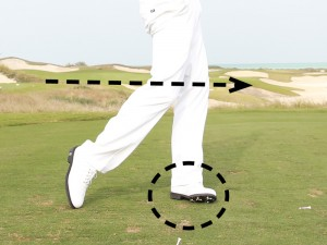 leg action in the golf swing