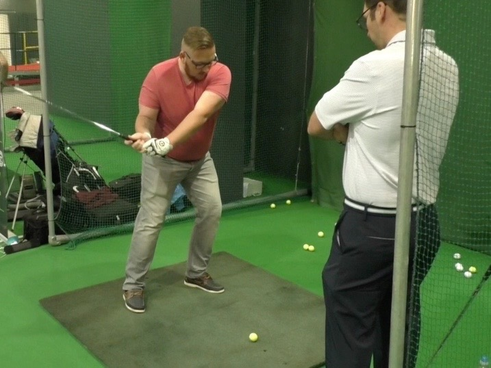 Improving right leg action with Peter Finch