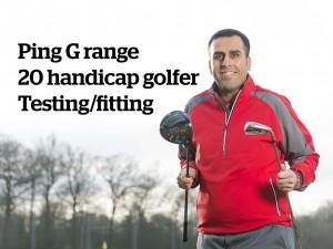 Handicap 20 Ping G range club fitting