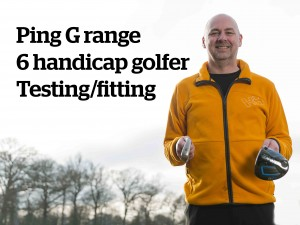 Handicap 6 Ping G range club fitting