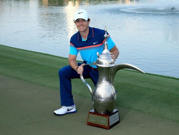 Rory McIlroy defends the Dubai Desert Classic