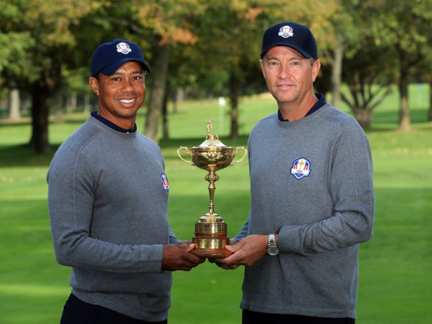 Tiger Woods and Davis Love