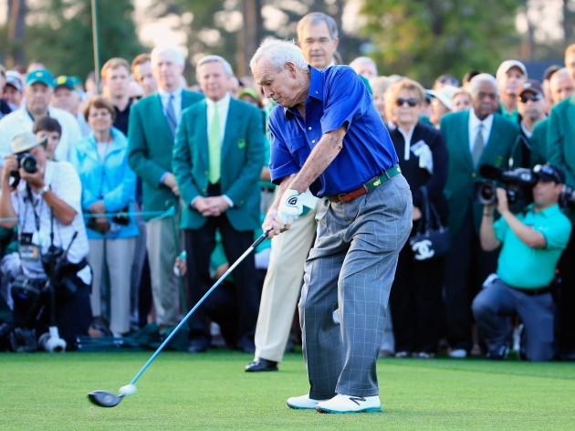 Arnold Palmer has retired as an honorary starter at the US Masters