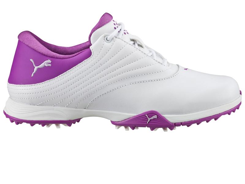 Womens Puma Blaze White Purple Purple Golf Shoes Z34550