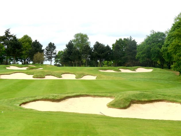 The new bunkering on the 6th at Stoke Park