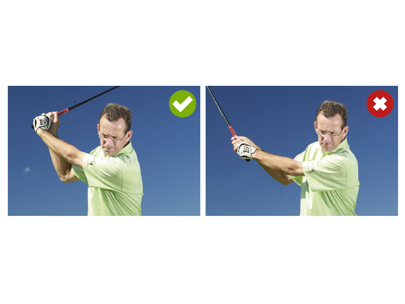 What is casting in the golf swing?