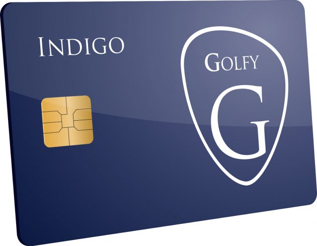 Golfy Indigo Card