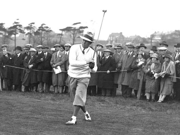 Leo Diegel in action in 1929. Credit: Getty Images open golf chokes