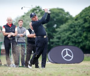 Gary Player can still get it out there for a man of 80 years of age!