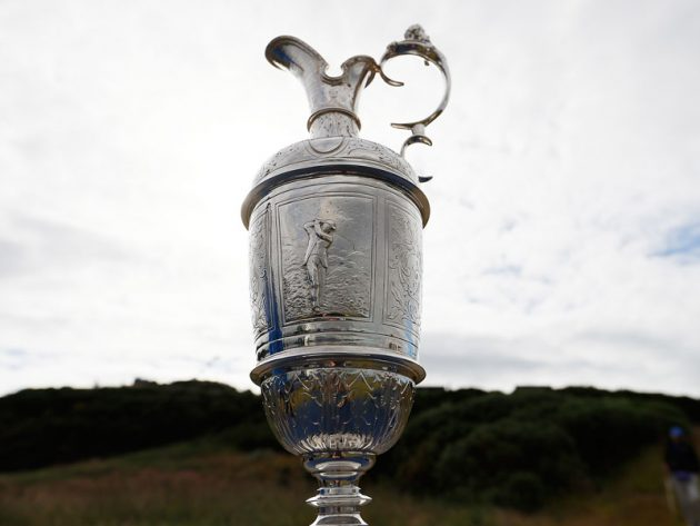 Open championship trophies