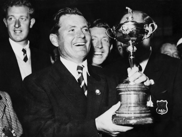 Dai Rees with the Ryder Cup 1957