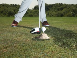 The correct path into the ball will lead to virtually no sand being disturbed...