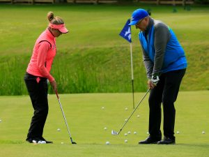 Peter's chipping has improved since his lesson with Amy Boulden at Gleneagles in early July