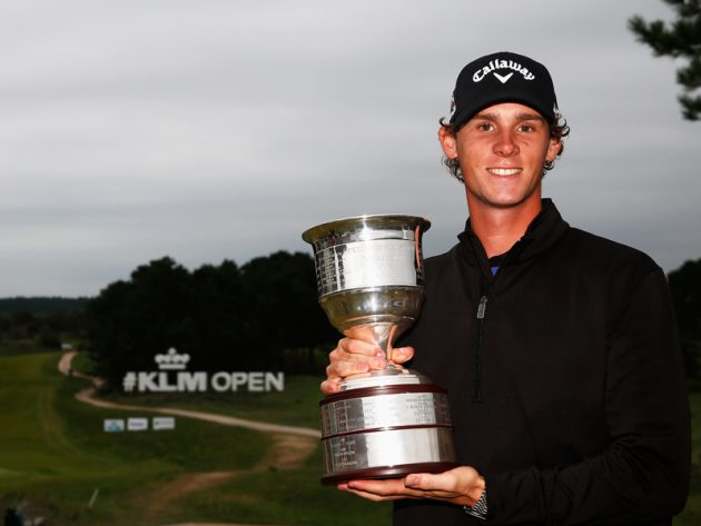 Thomas Pieters defends the KLM Open